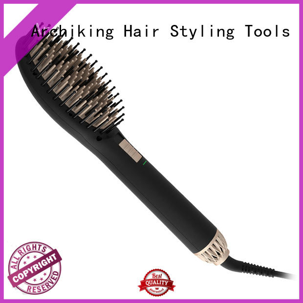display heated straightening brush supplier for home