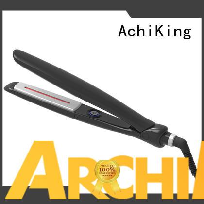 Quality AchiKing Brand infrared treatment brush hair flat iron