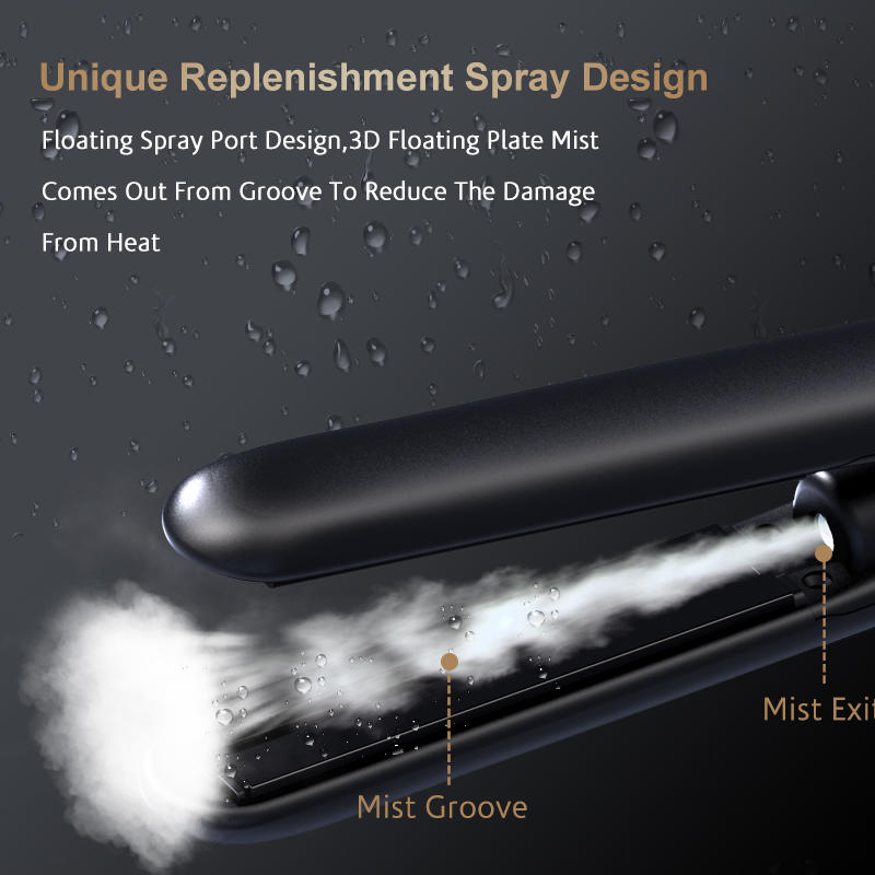 New Hair Straightener Brush Cool Steam Hair Flat Iron With Spray V179