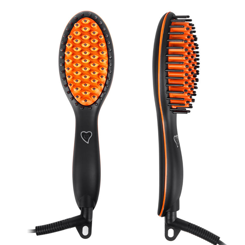 LCD Digital Combs Electric Ceramic Heat Ionic Hair Straightening Brush CH03