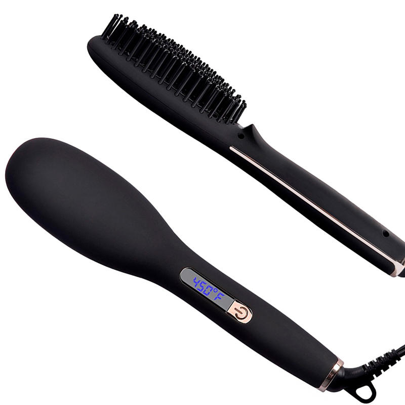 Anti Scald Detangling Hot Air Brush Ionic Hair Brush Straightener Q20