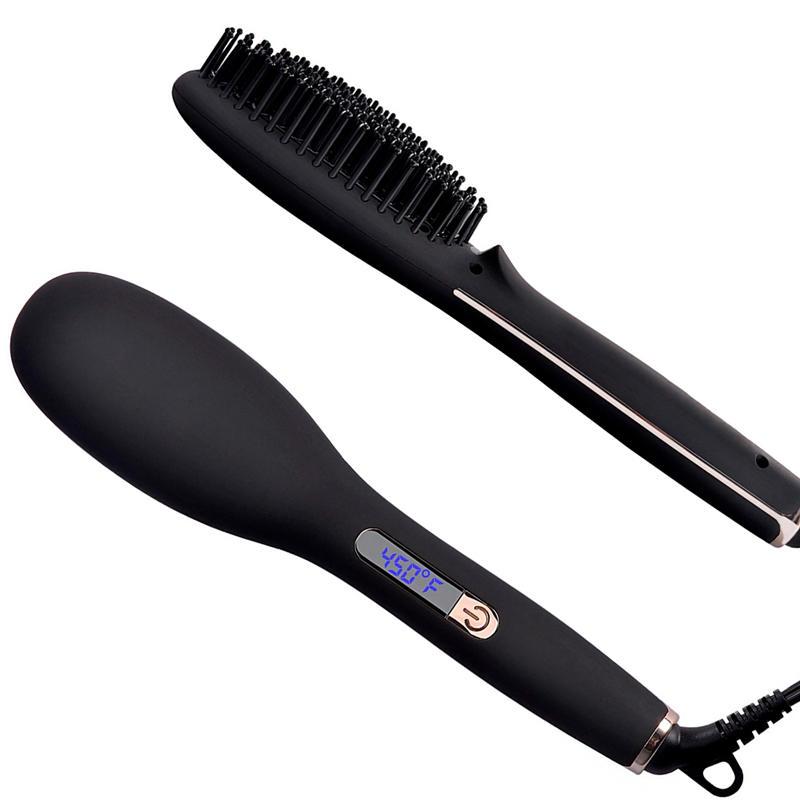 Anti Scald Detangling Hot Air Brush Ionic Hair Brush Straightener Q20