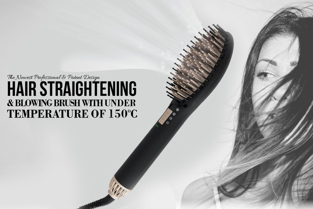 patented electric hair brush straightener supplier for household-1