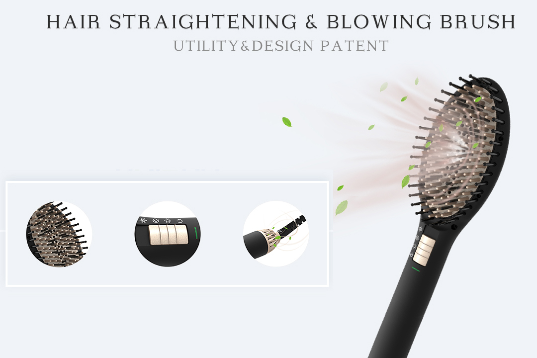 patented electric hair brush straightener supplier for household-2