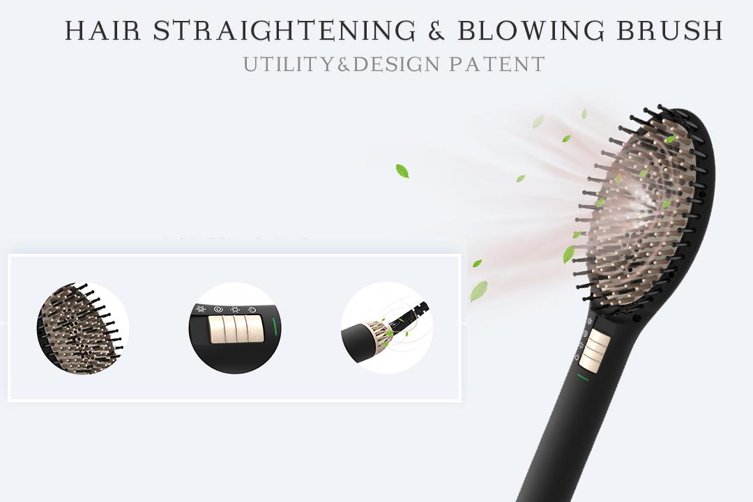 AchiKing heated straightening brush supplier for household-2