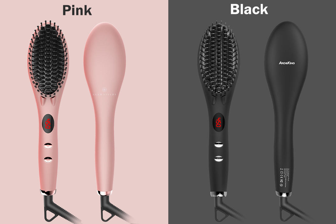 Wholesale electric detangling straightening comb AchiKing Brand