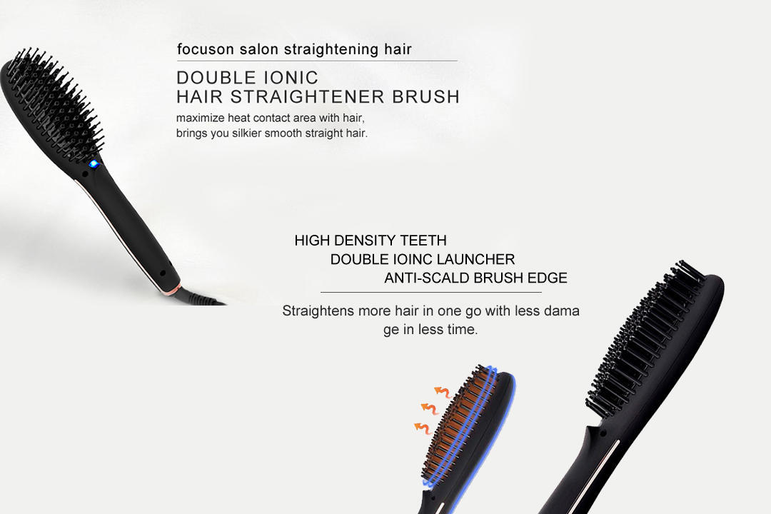 AchiKing straightening best electric hair straightening brush factory price for household