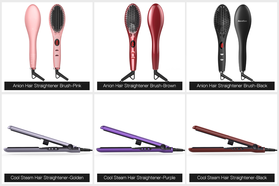 AchiKing straightening best electric hair straightening brush factory price for household-6