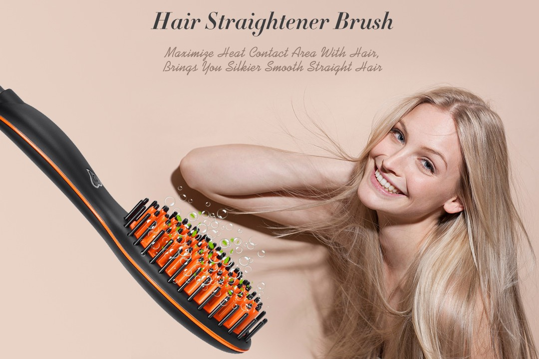 AchiKing electric hair brush straightener personalized for beauty salon-3
