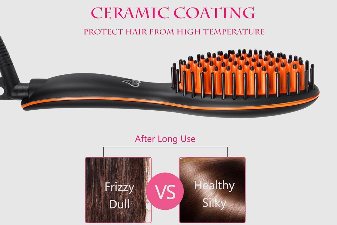 gfhsb002 electric hair brush straightener supplier for household