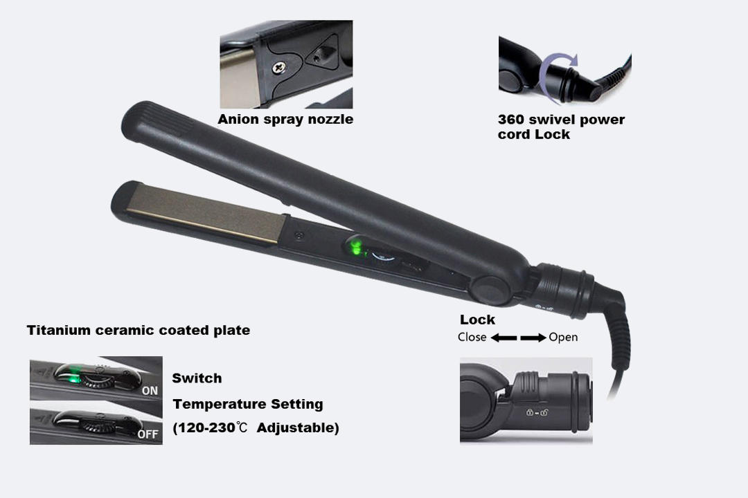 AchiKing durable hair flat iron from China for household