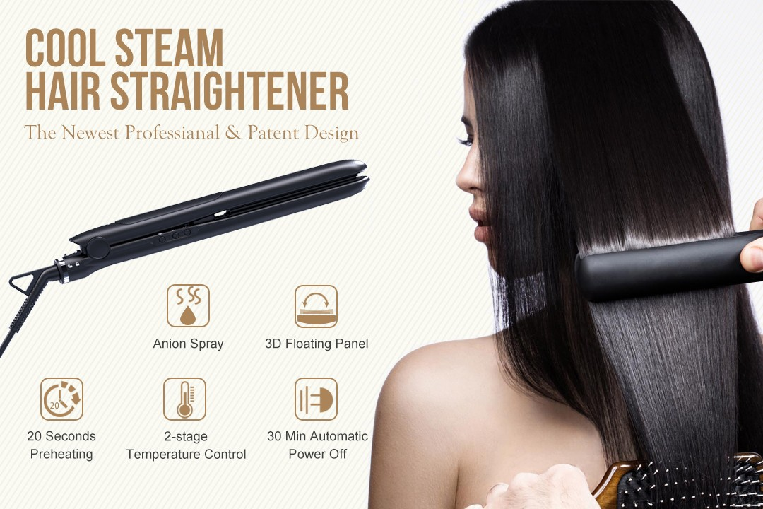 AchiKing reliable flat iron hair straightener customized for beauty salon-1