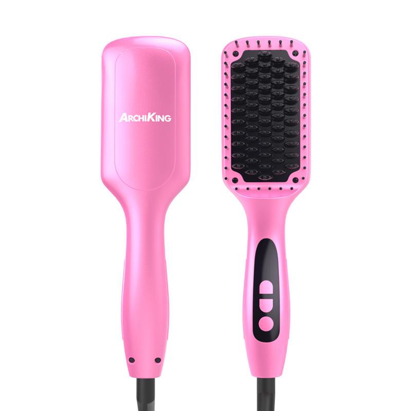 Wholesale hair flat iron ceramic hair straightening brush GF-HSB001