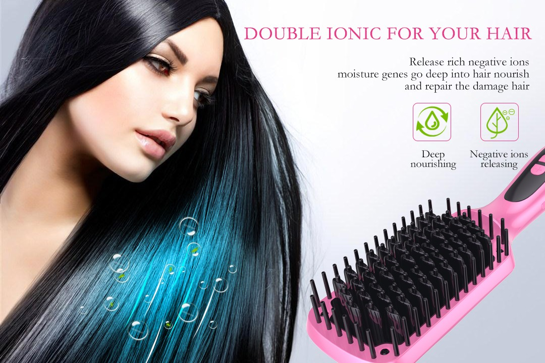 flat best electric hair straightening brush factory price for dressing room-2