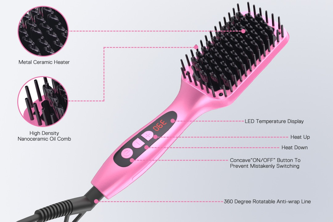 AchiKing flat heated straightening brush supplier for home-6