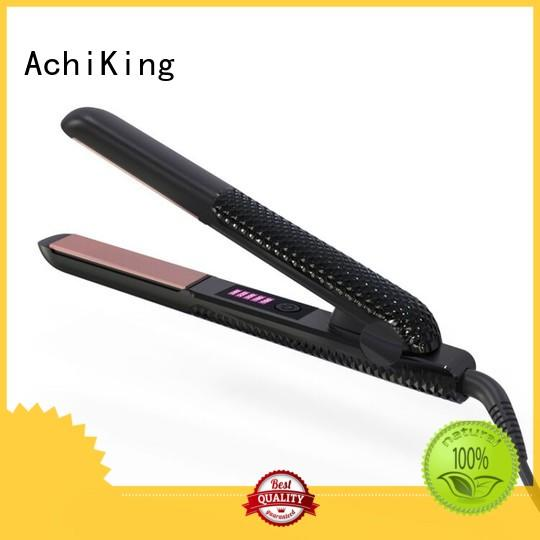 Hot directly curl hair with flat iron brush AchiKing Brand