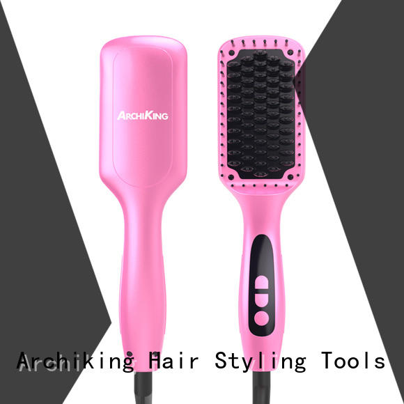 patented heated straightening brush personalized for household