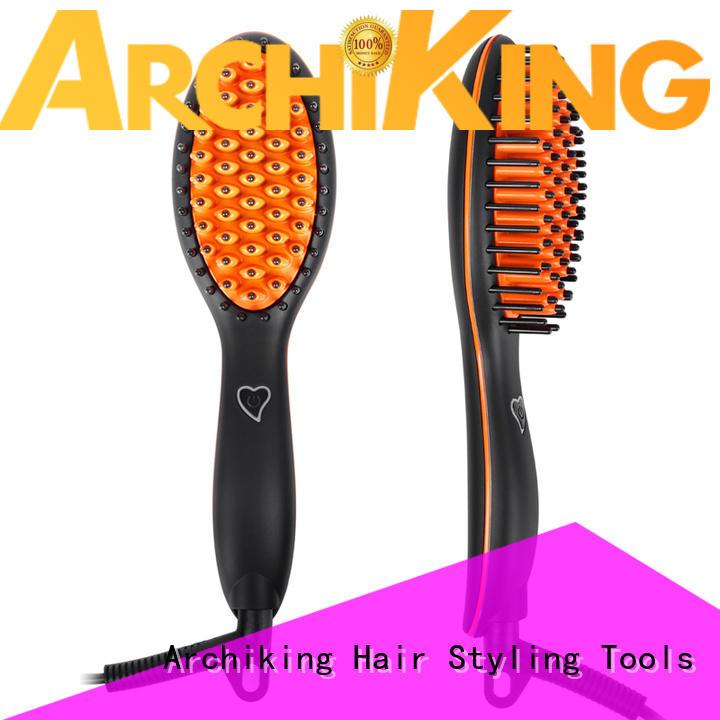 LCD Digital Combs Electric Ceramic Heat Ionic Hair Straightening Brush CH03