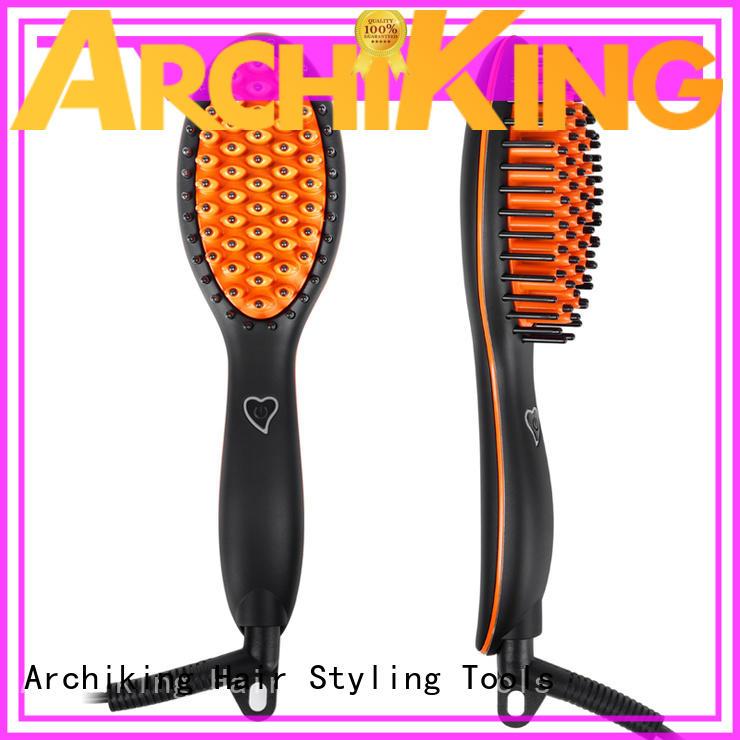 straightening ceramic straightening brush supplier for beauty salon AchiKing