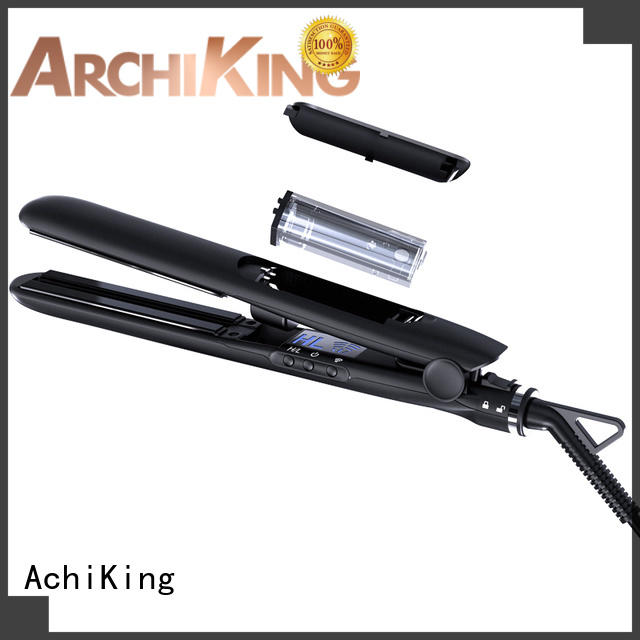 AchiKing Brand curling straighteners brush curl hair with flat iron fast