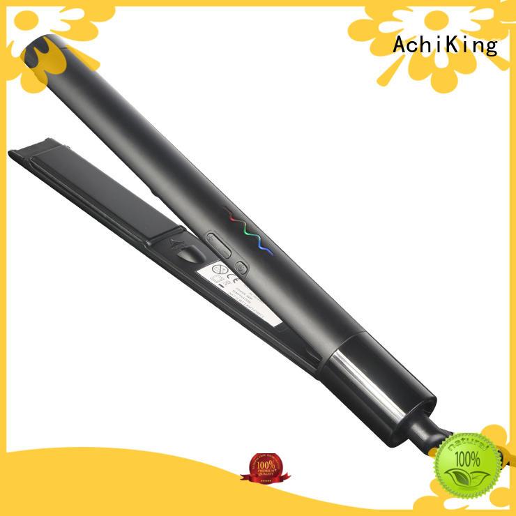 curl hair with flat iron straight heater AchiKing Brand hair flat iron