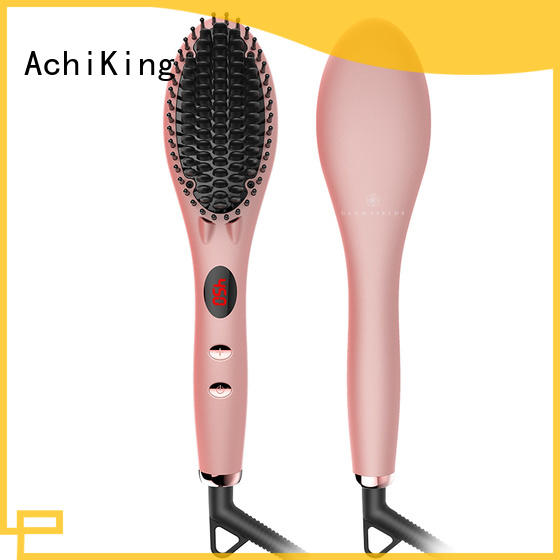 AchiKing best electric hair straightening brush supplier for home