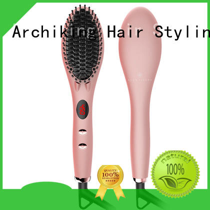 AchiKing digital electric hair brush straightener personalized for home