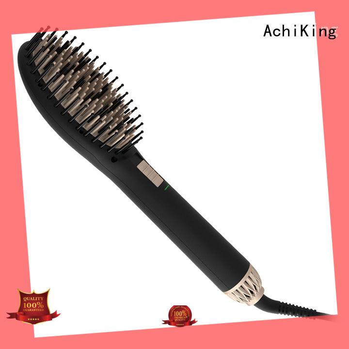 AchiKing straightening electric hair brush straightener supplier for beauty salon