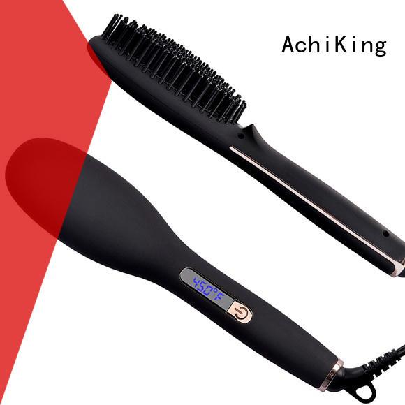AchiKing digital straighten brush factory price for household