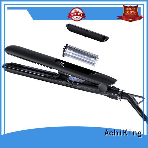 Hot electric hair flat iron curling ceramic AchiKing Brand