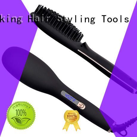AchiKing patented best electric hair straightening brush supplier for household