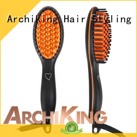 AchiKing Brand anti scald lcd display straightening comb dryer factory