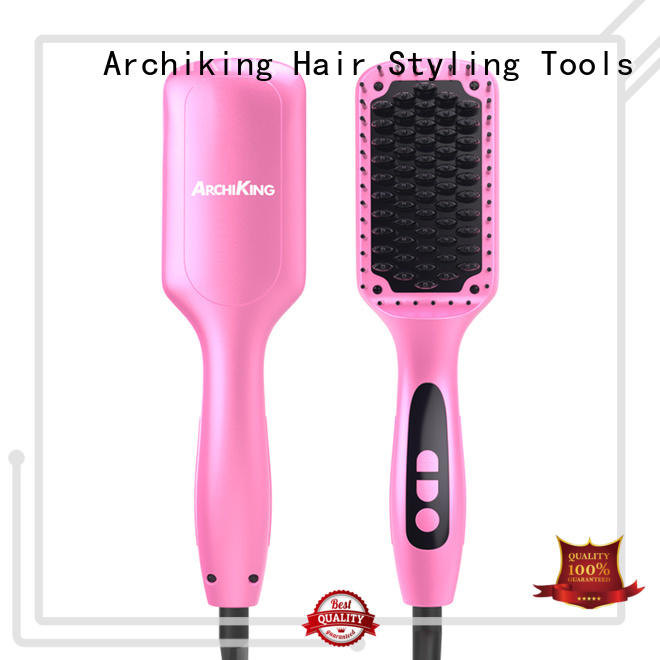 AchiKing electric hair brush straightener wholesale for household