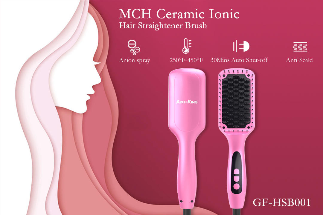 AchiKing flat heated straightening brush supplier for home-1