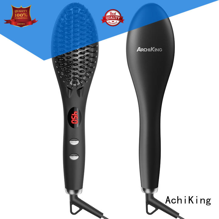 2019 Ceramic Hair Straightening Brush MCH Technology Hair Flat Iron GB-HSB002