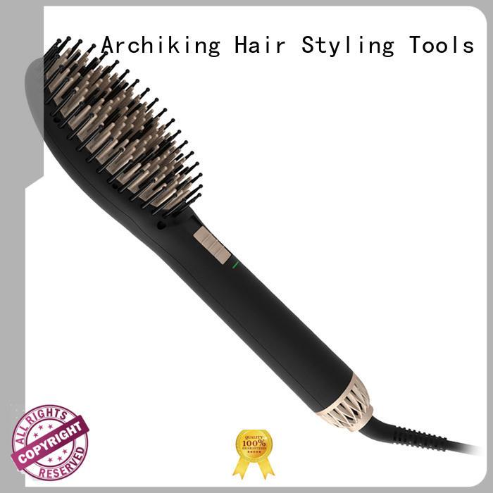 AchiKing flat electric hair brush straightener supplier for beauty salon
