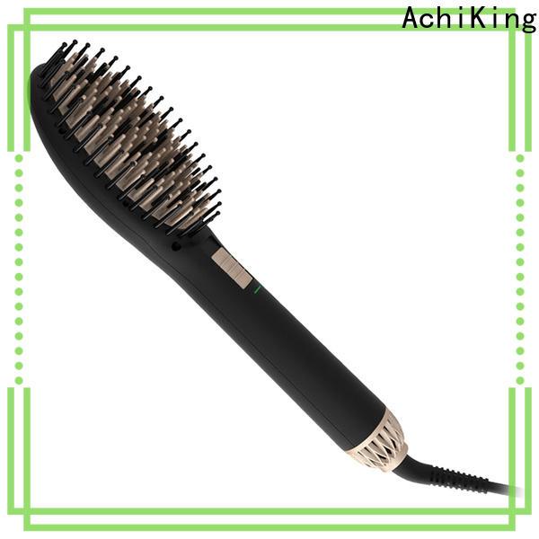 AchiKing heated straightening brush supplier for household