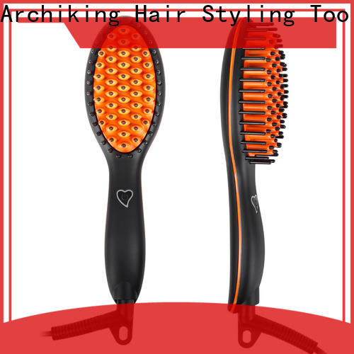 AchiKing electric hair brush straightener personalized for beauty salon