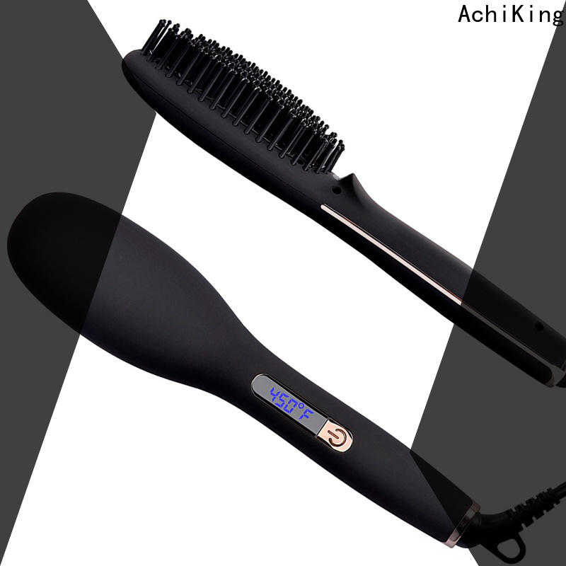 flat electric hair brush straightener factory price for household