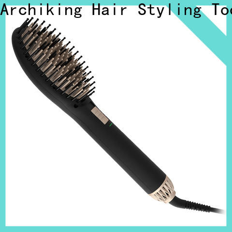 AchiKing straightening electric hair brush straightener personalized for dressing room