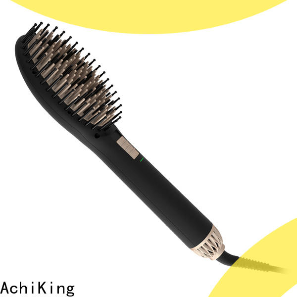 straightening electric hair brush straightener personalized for dressing room