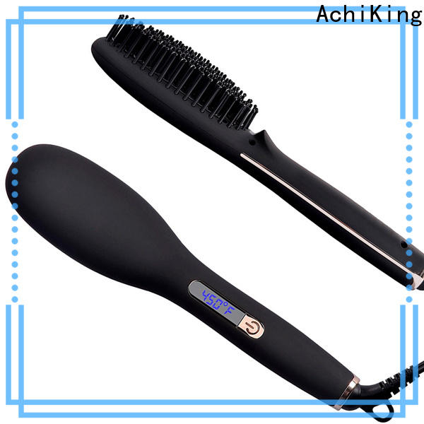 flat best electric hair straightening brush factory price for household