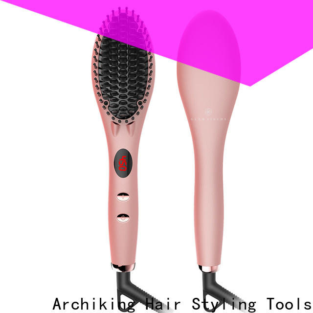 flat best electric hair straightening brush factory price for dressing room